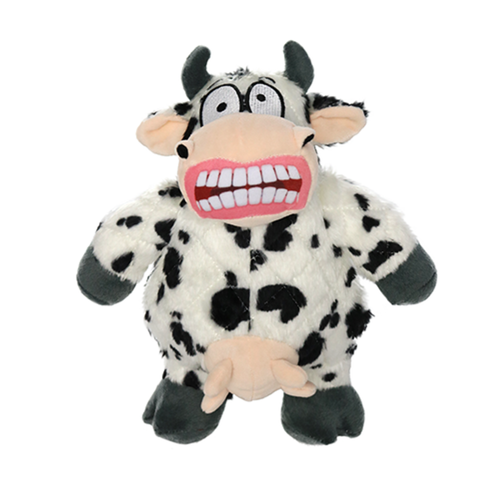 Mighty Angry Animals Mad Cow Tuff Dog Toy for Medium & Large Dogs by Tuffy