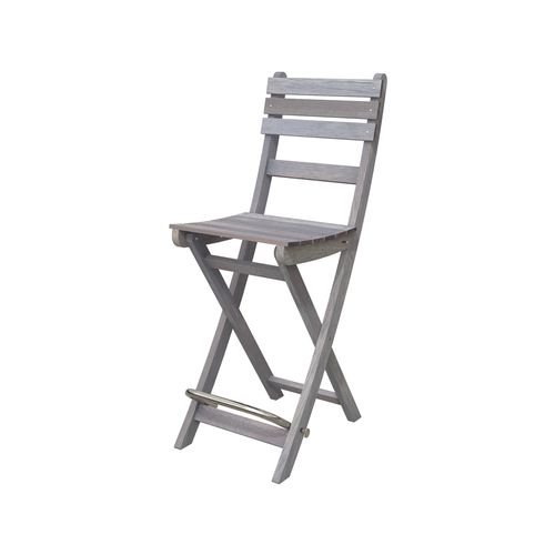 Interbuild Dusk Grey Sofia Folding Bar Stool - 2 Pack