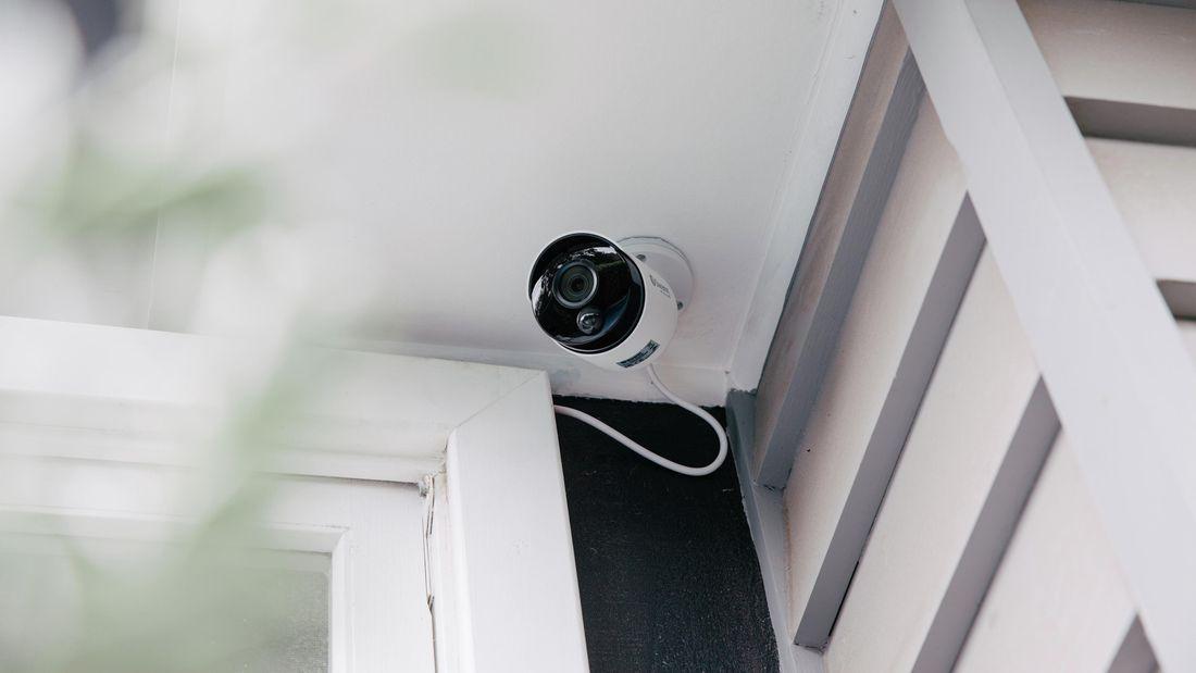 A security camera in situ