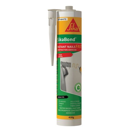 Sika 430g White SikaBond Instant Nails Fast Construction Adhesive