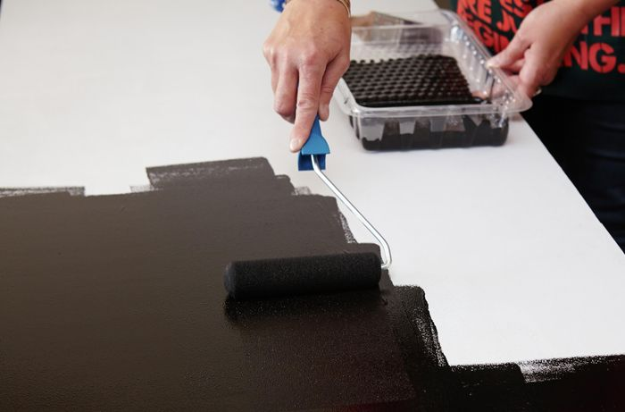 DIY Step Image - How to paint a chalkboard wall . Blob storage upload.