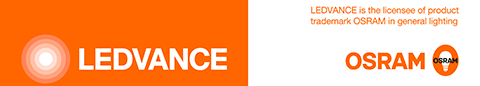 Osram logo. LEDVANCE is the licensee of product trademark OSRAM in general lighting.
