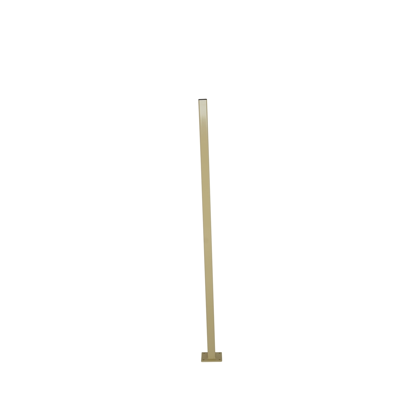 Protector Aluminium 50 x 50 x 1600mm Primrose Flanged Fence Post With Cap