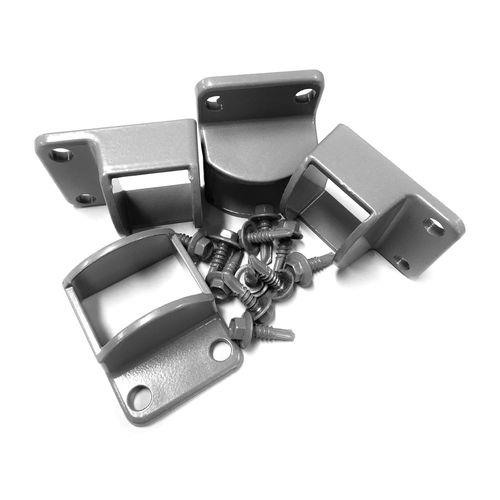 Protector Aluminium 38 x 25mm Palladium Silver Panel Brackets
