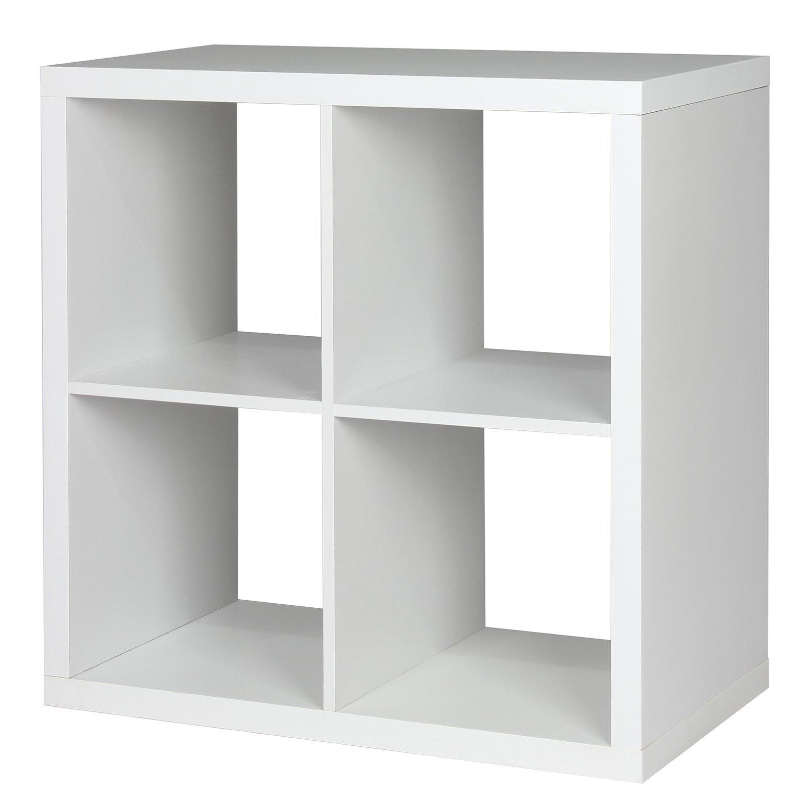 Flexi Storage Clever Cube 76 x 39 x 76cm 2 x 2 Cube Unit - White