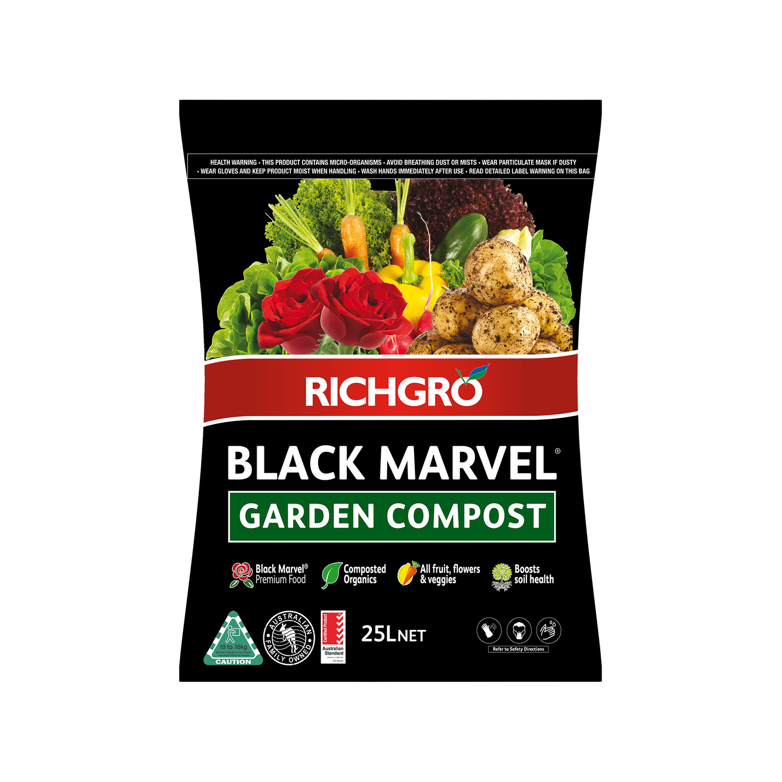 Richgro 25L Black Marvel Garden Compost