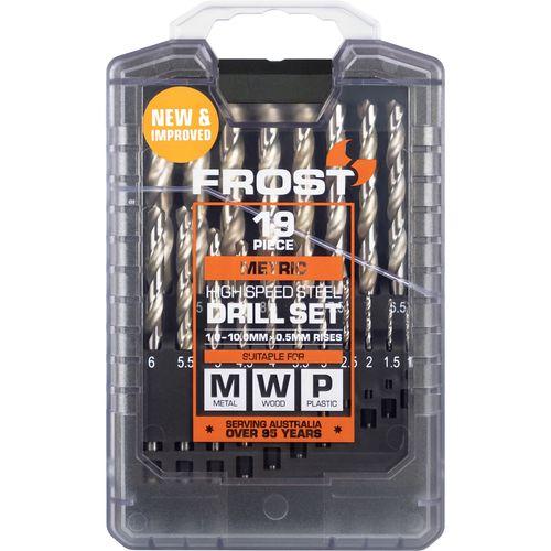 Frost 19 Piece HSS Metric Jobber Drill Set