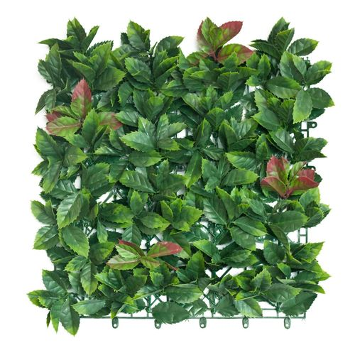 UN-REAL 50 x 50cm Red Photinia Artificial Hedge Tile