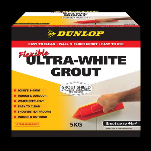 Dunlop 5kg Ultra White Flexible Coloured Grout