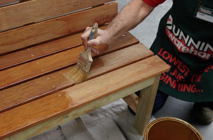 DIY Step Image - How to make a wooden D.I.Y. garden bench . Blob storage upload.