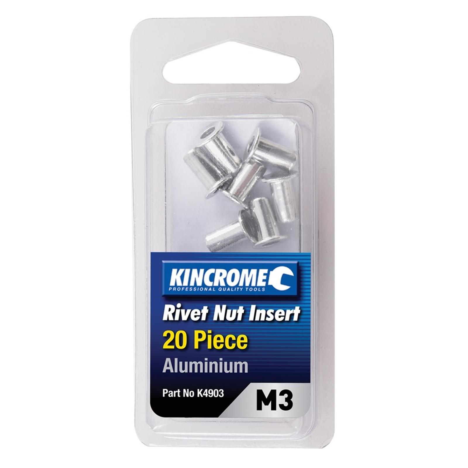 Kincrome M3 Aluminum Rivet Nut Insert - 20 Pack