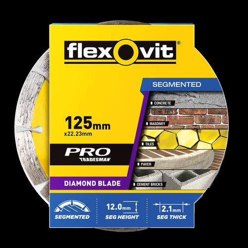 Flexovit 125 x 22.23mm Segment Diamond Blade