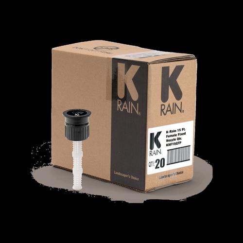 K-Rain 90° 15′ Female Fixed Spray Nozzle - 20 Pack