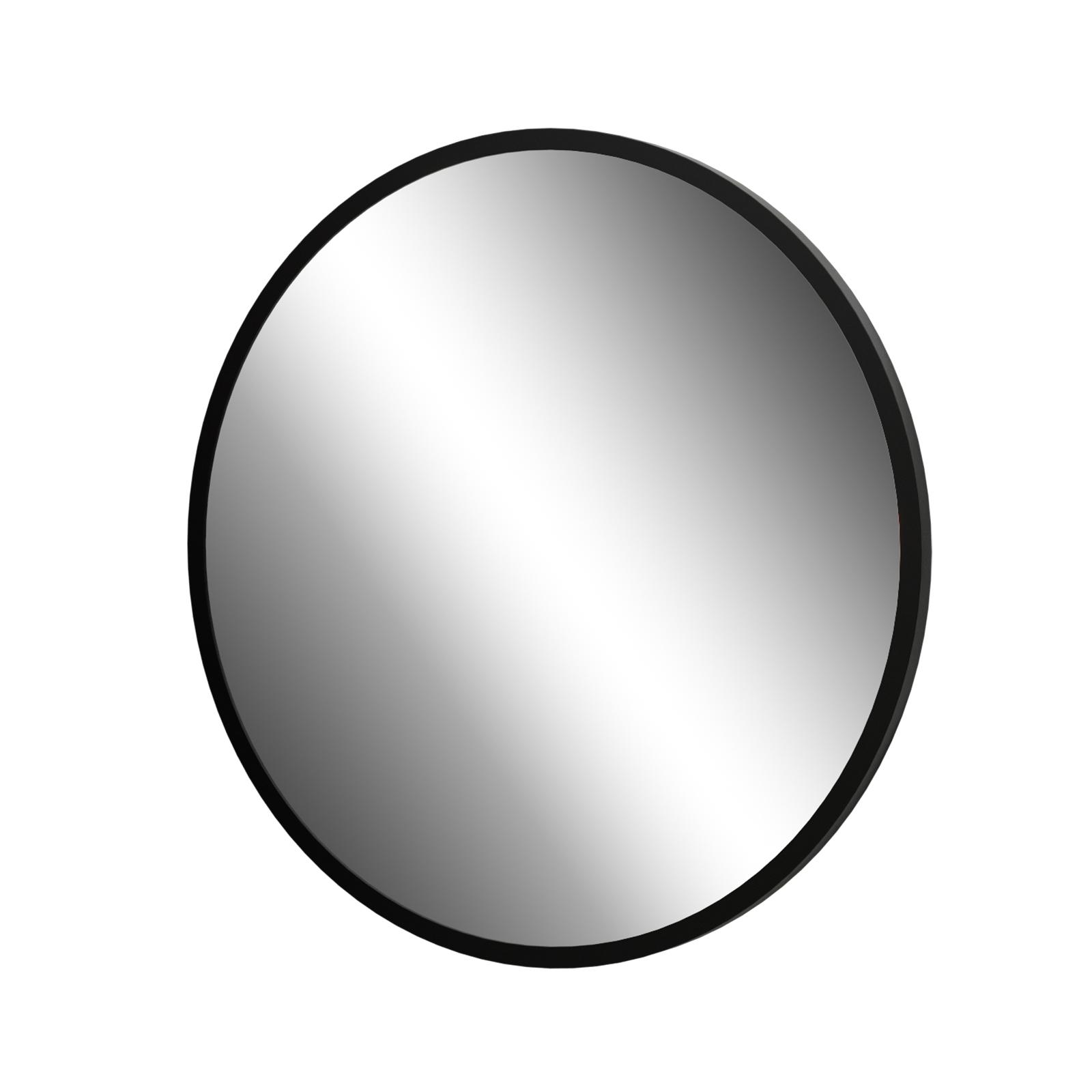 Living Elements 800 x 20mm Black Framed Round Mirror