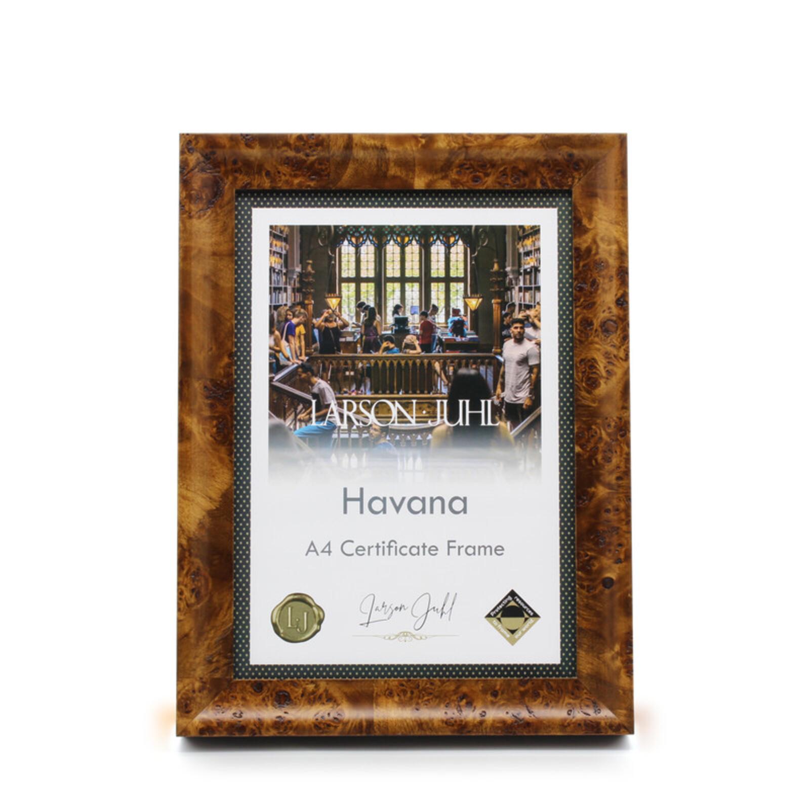 Havana A4 Toffee Certificate Frame