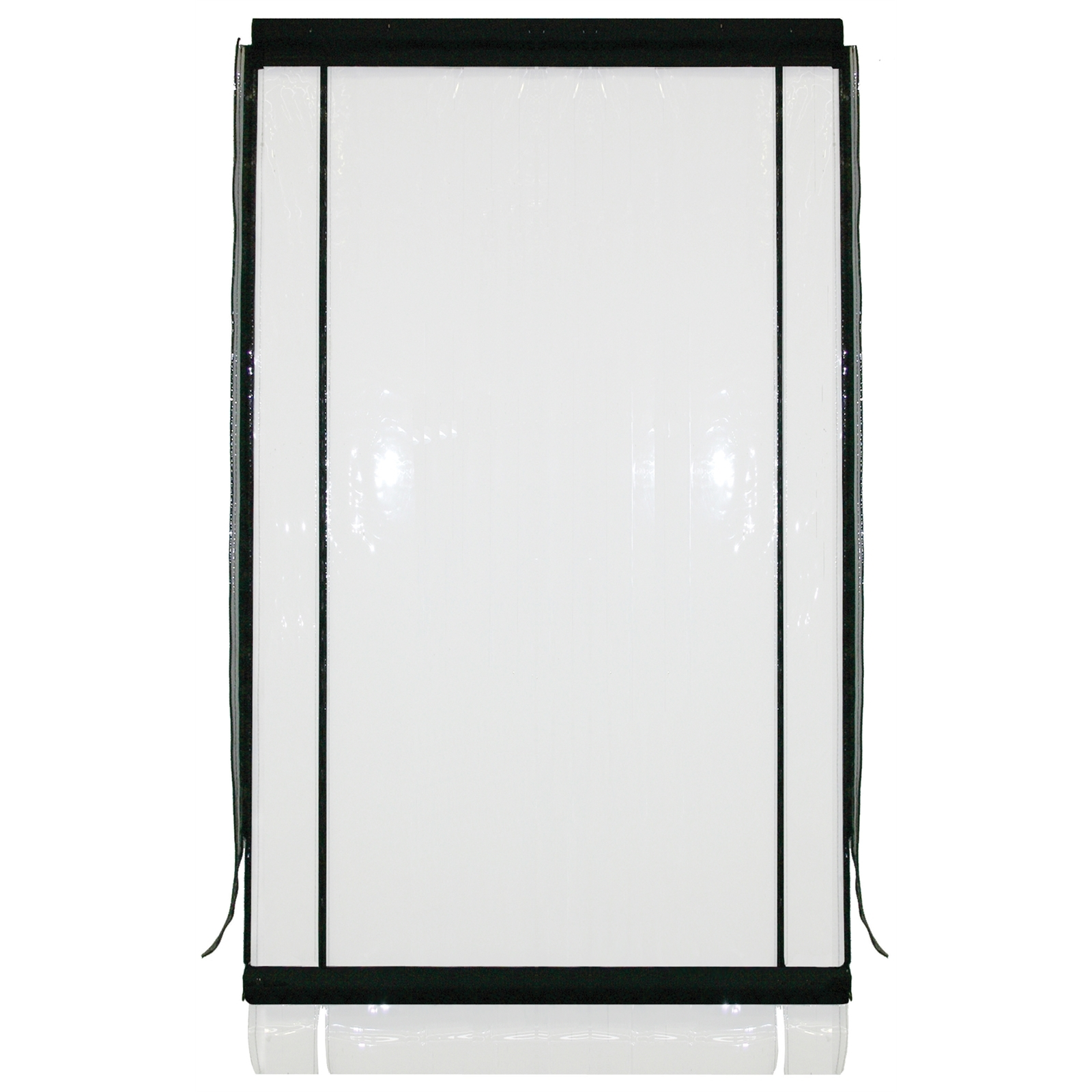 Bistro Blinds 0.75mm PVC Outdoor Blind - Clear / Black 900mm x 2400mm