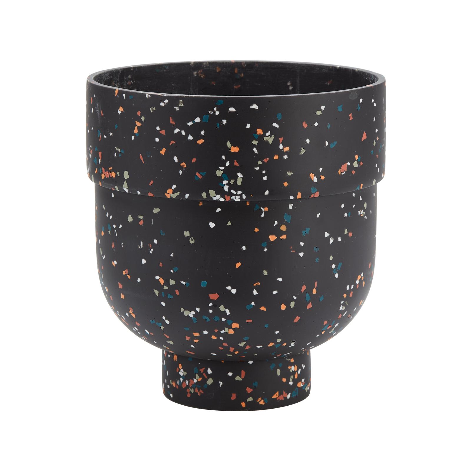Capra 22.2 x 24.6cm Stone Funnel Terrazzo Resin Pot