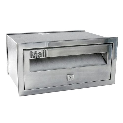 Velox 230mm Polished Silver Super Deluxe Front Open Letterbox