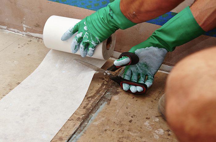 DIY Step Image - How to waterproof your bathroom floor . Blob storage upload.