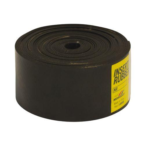 Moroday 50 x 1.5mm x 5m Black Insertion Rubber Roll