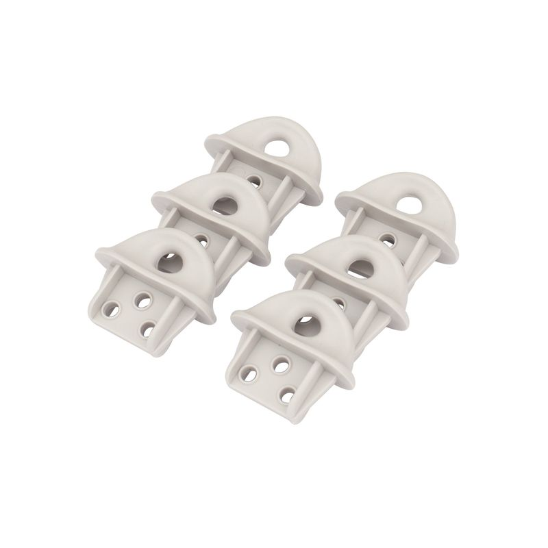 Spare Parts Pulling Eyes For Retracting Clotheslines - 6 Pack