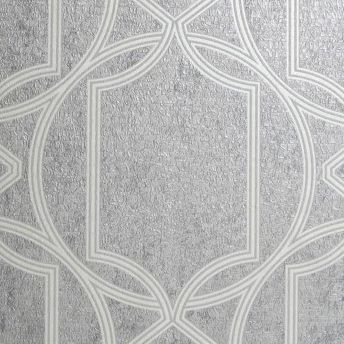 Boutique 52cm x 10m Deco Geo Soft Grey  Wallpaper
