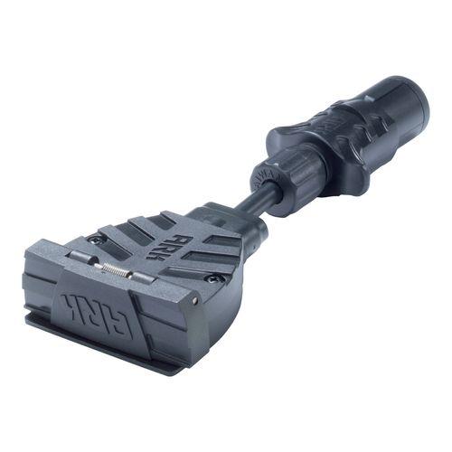 Ark 7 Pin Flat Socket To 7 Pin Small Round Plug Trailer Adaptor