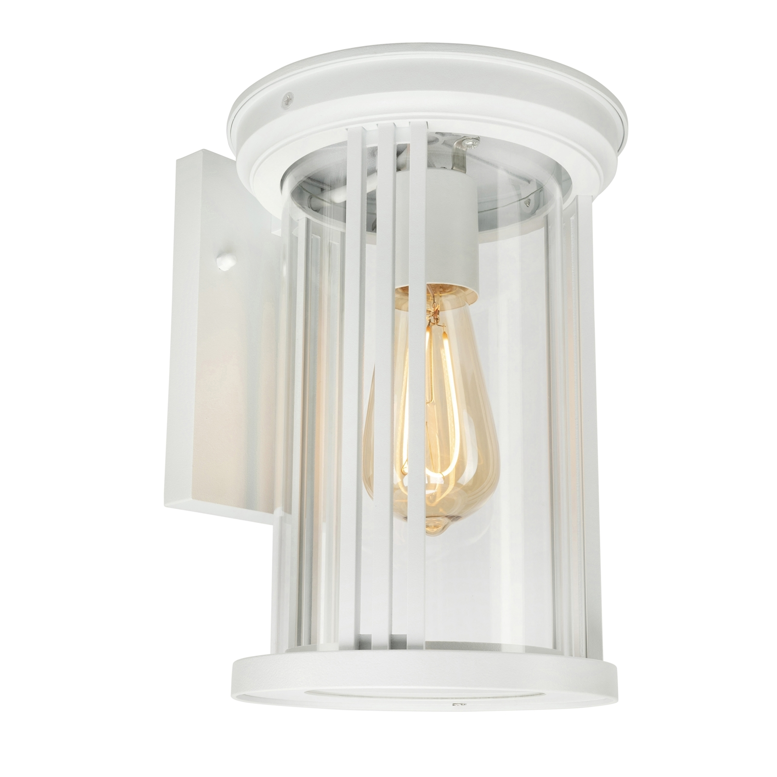 Brilliant Lighting White Ripley Exterior Wall Light With Glass