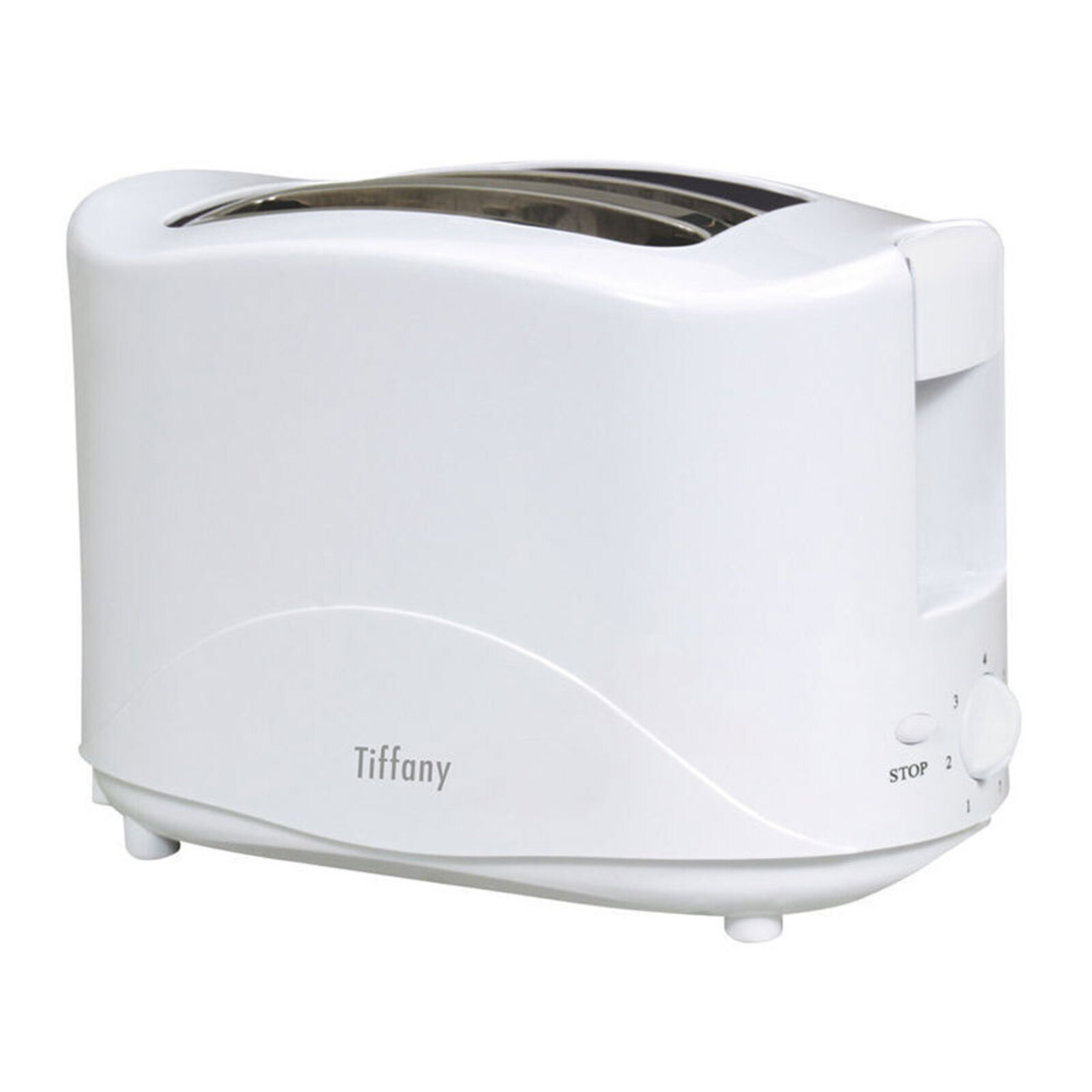 Tiffany Touch Electric 750W 2 Slice/Slot Bread Toaster Sandwich/Toast Maker WHT