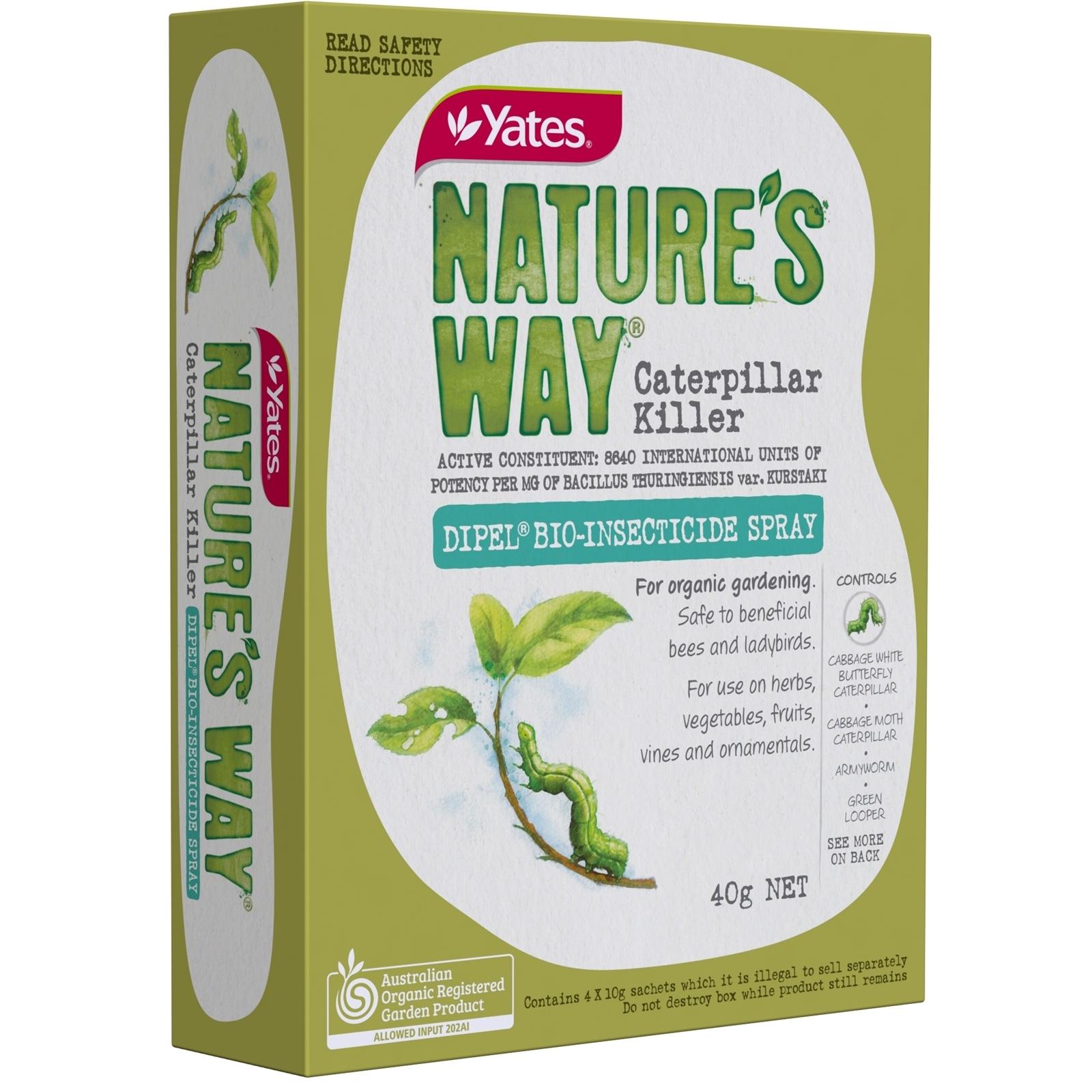 Yates 40g Natures Way Caterpillar Killer Dipel Insecticide