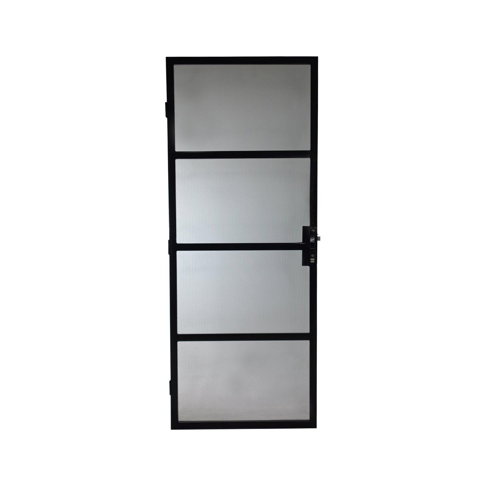 Polar 2032 x 813mm Black Torquay Metric Steel Screen Door