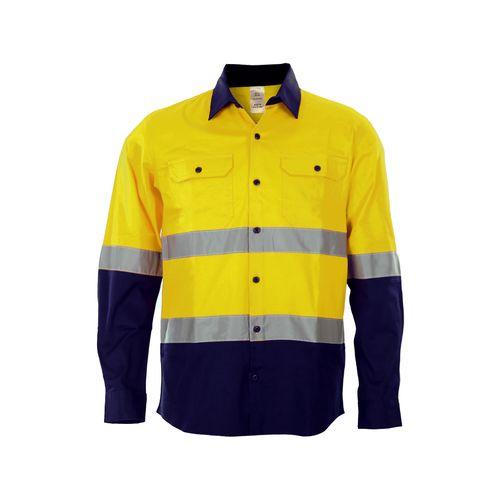 Craftright Medium Yellow Hi Vis Long Sleeve Shirt