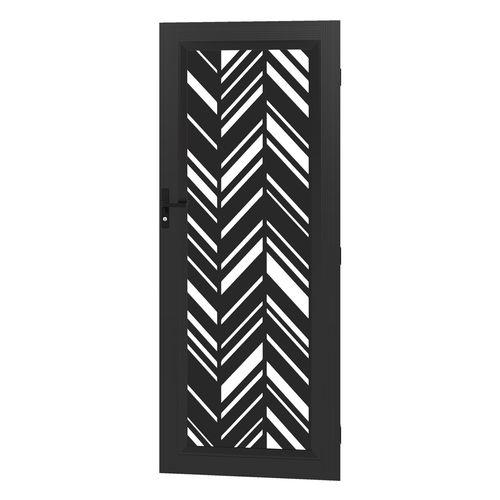 Protector Aluminium 813 x 2032mm Black Profile 30 Deco Barrier Door