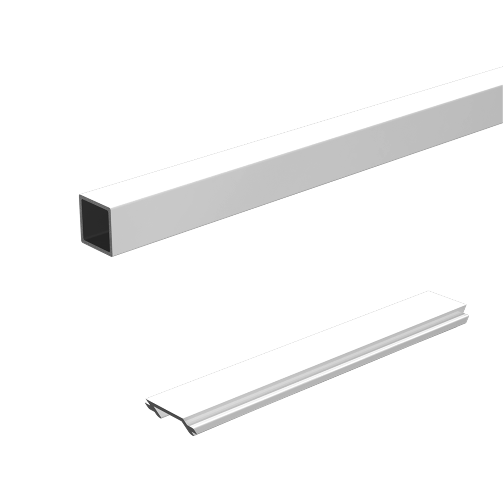 Peak Products 1800mm White Aluminium Balustrade Standard Stair Baluster And Spacer Kit