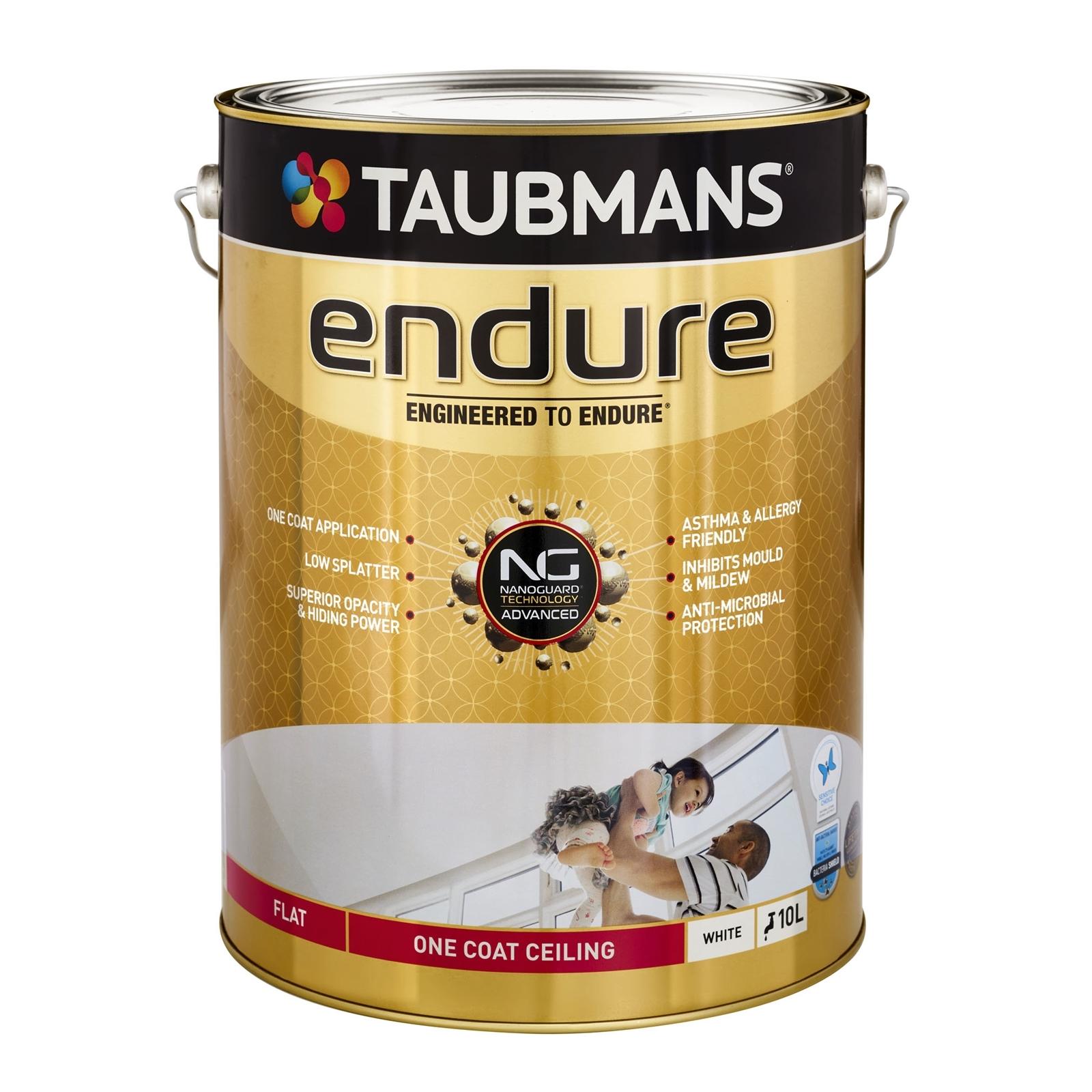 Taubmans 10L White Endure Flat One Coat Ceiling Paint