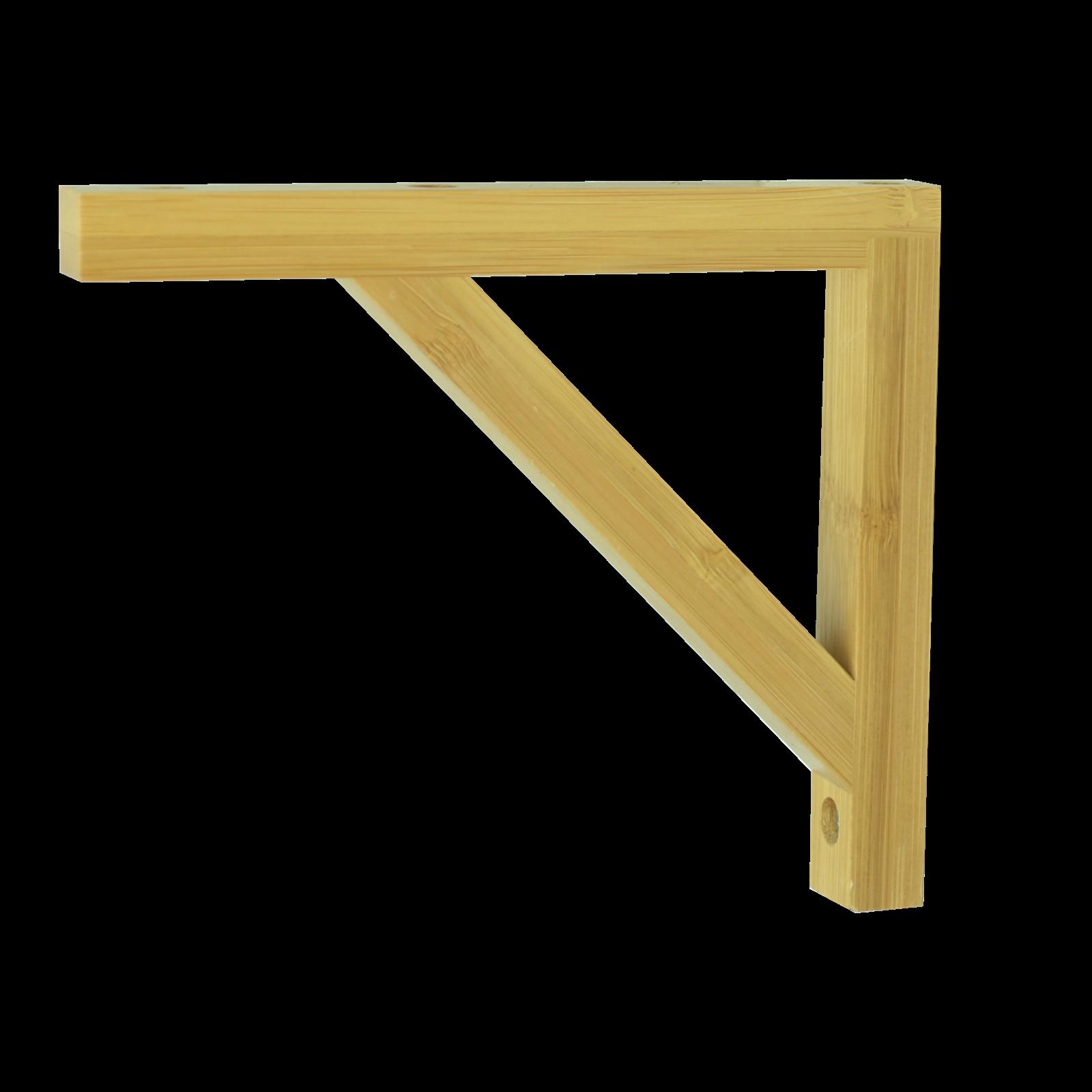 Carinya 130 x 150 x 20 x 15mm Varnished Bamboo Angle Bracket