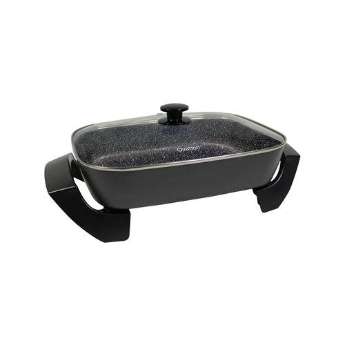 Ovation 50cm Electric Frypan Non-Stick Deep Banquet Cooking Pan w/ Handles/Lid