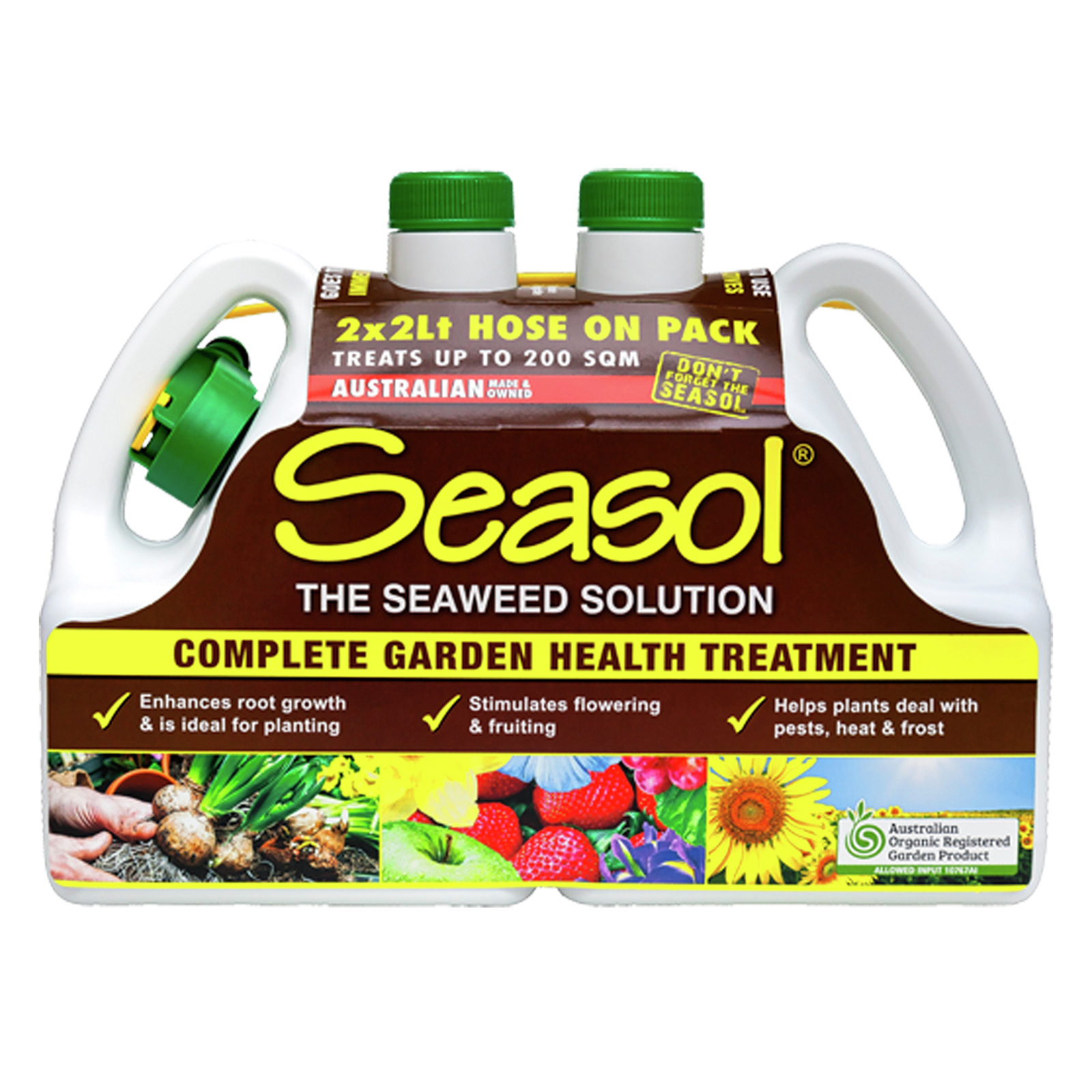 Seasol 2 x 2L Hose On Complete Garden Health Treatment - Twin Pack