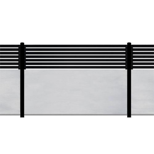 Slenderline 2400 x 1800mm Modular Fencing Bay Kit including Slats