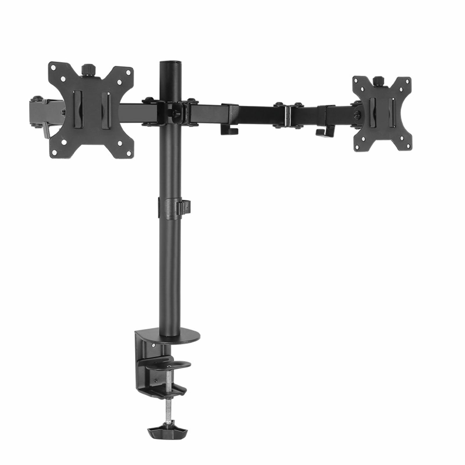 Artiss Dual Monitor Arm Stand 2 Desk Mount HD LED LCD Screen TV Holder Bracket