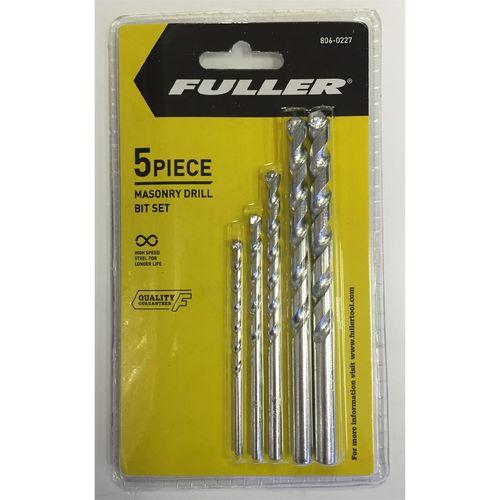 Fuller Masonry Drill Bit Set  5pc