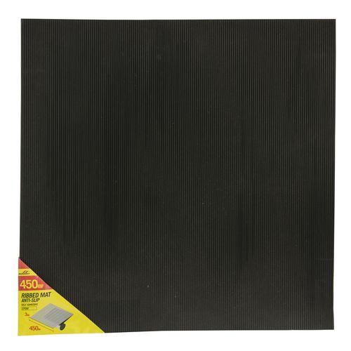 Moroday 450 x 450 x 3mm Black Self Adhesive Ribbed Mat