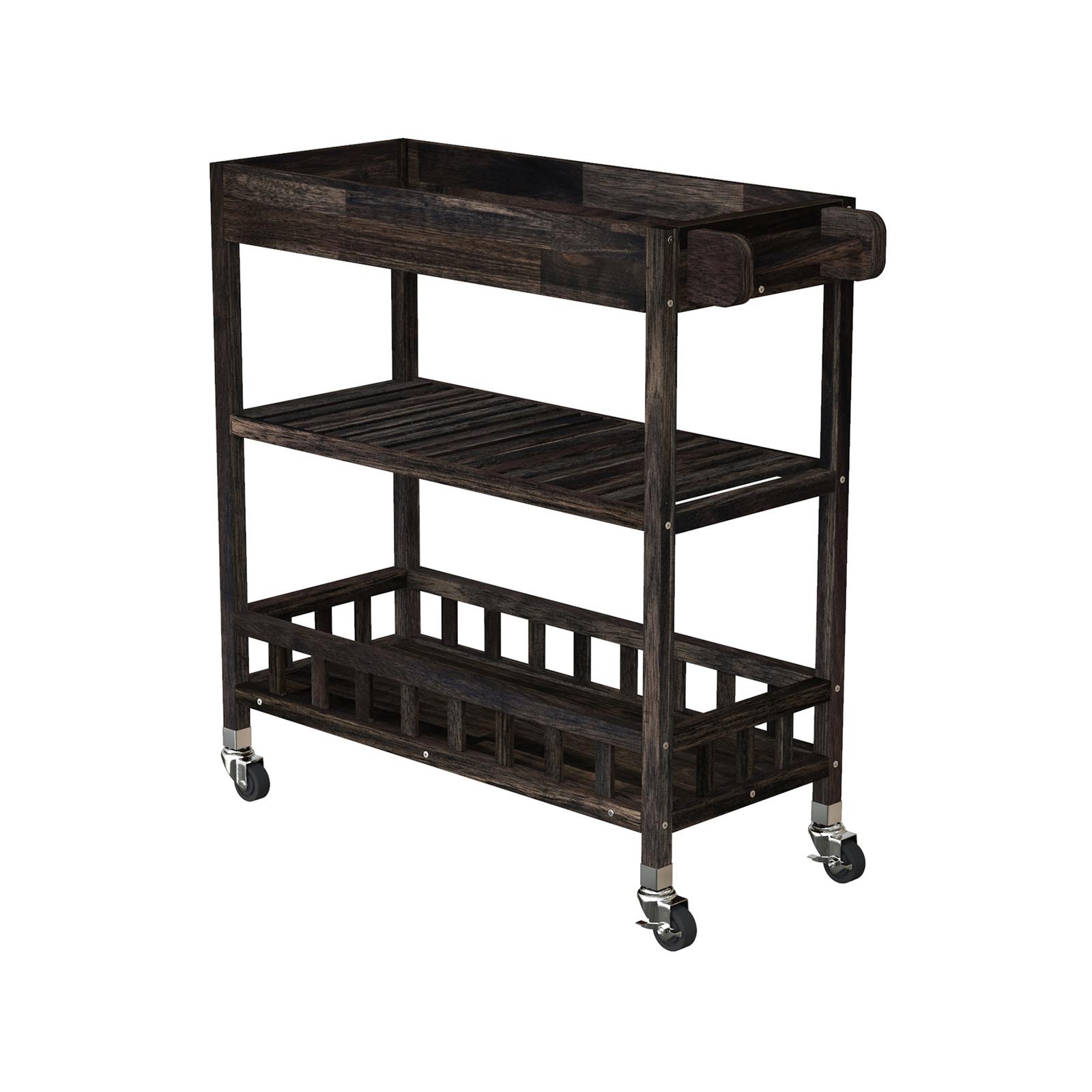 Interbuild 80 x 35 x 85cm Espresso Holger SUV Kitchen Cart