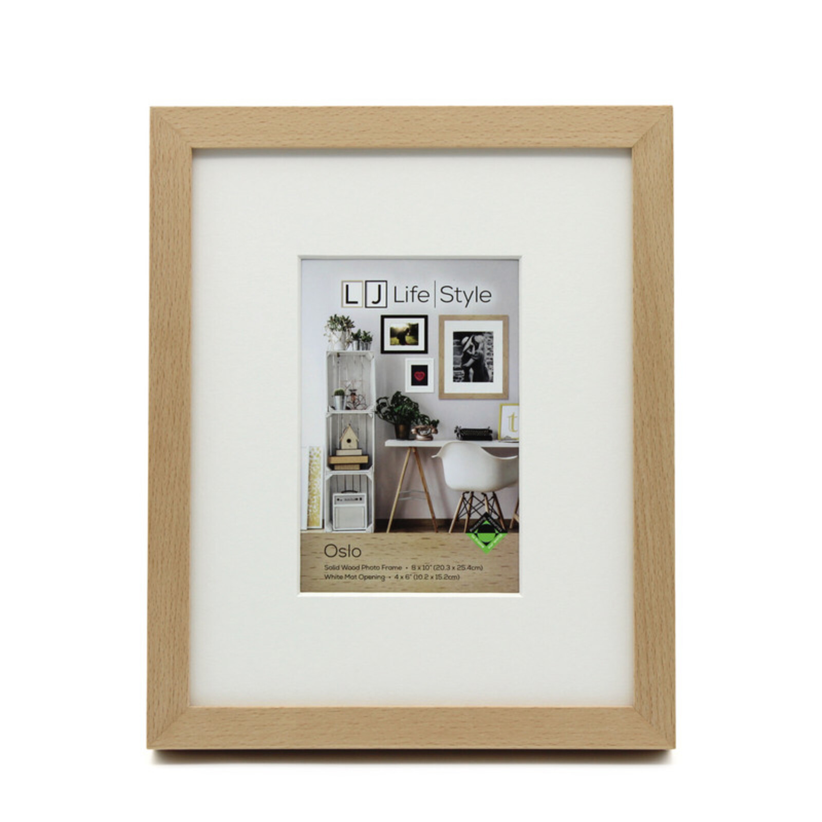 Oslo 8 x 10inch/4 x 6inch Opening Natural Photo Frame