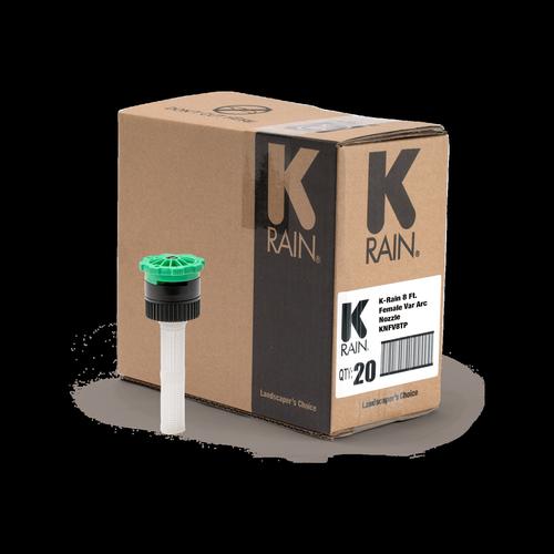 K-Rain Adjustable Spray Nozzle 8′ Female - 20 Pack