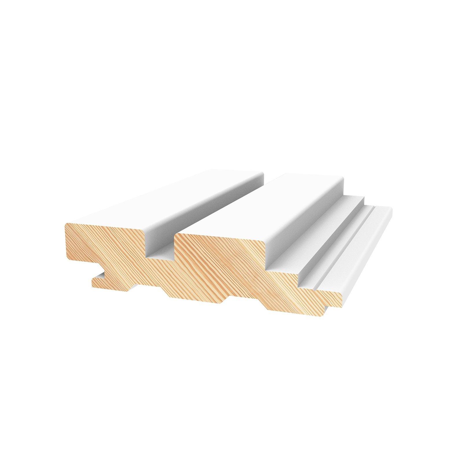 Porta Contours 78 x 21mm 2.7m Primed Strata Pine Lining Board