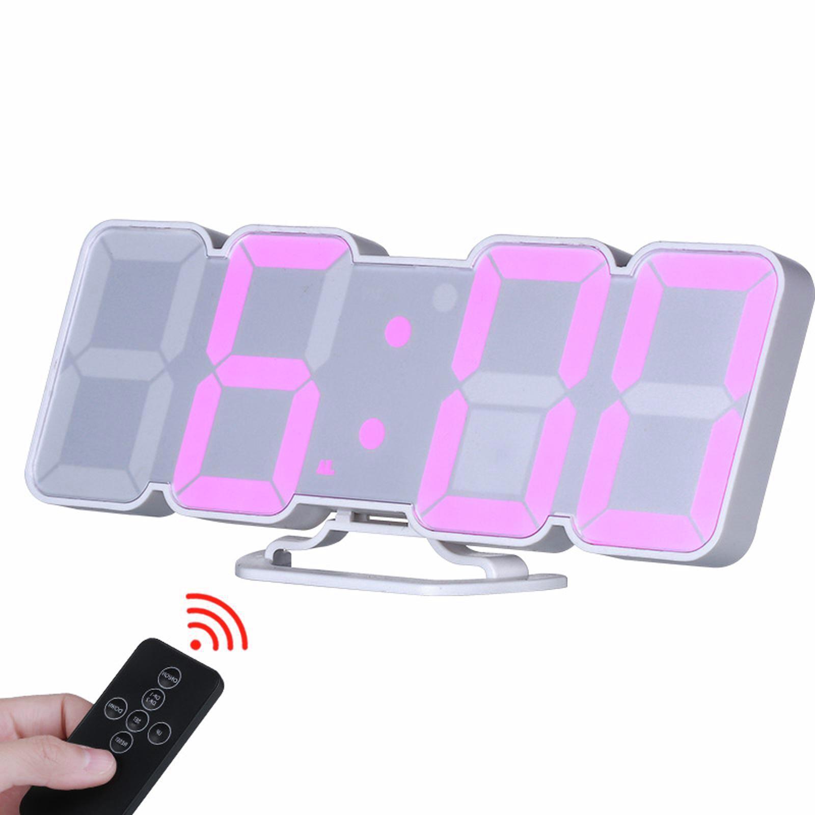 TODO LED Digital Alarm Clock Countdown Timer w/ Remote Control - White