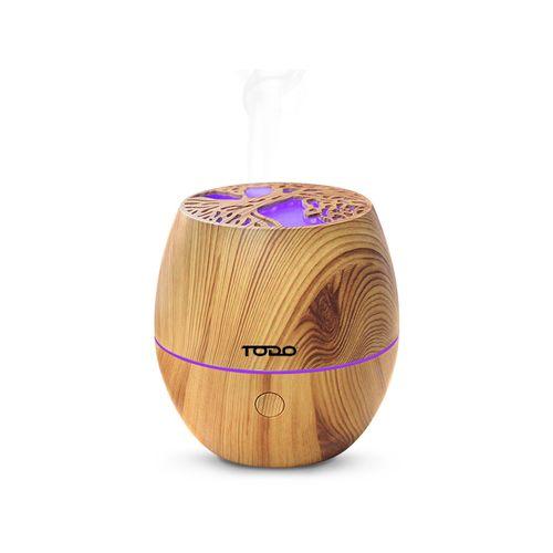 TODO 120ml Humidifier Aromatherapy Diffuser w/ LED Light - Woodgrain