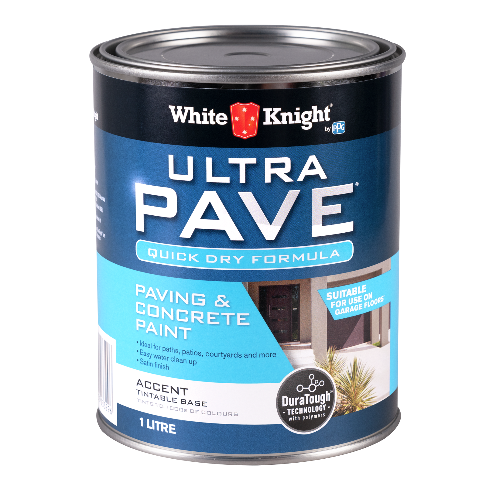 White Knight Accent Ultra Pave Quick Dry Paint - 1L