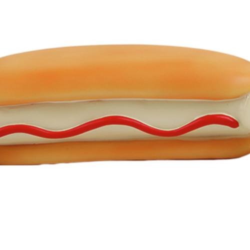 La Doggie Vita Hot Dog Bone Toy with Squeaker Small